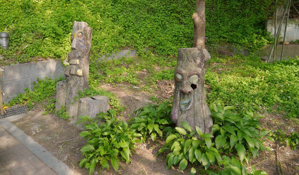 Чончжу Ханок деревянные идолы