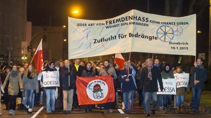 Германия Марш Je Suis Одесса