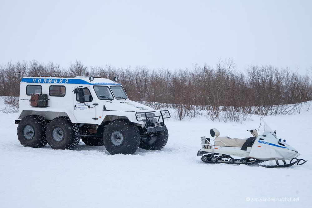 Полицейская спецтехника на Севере