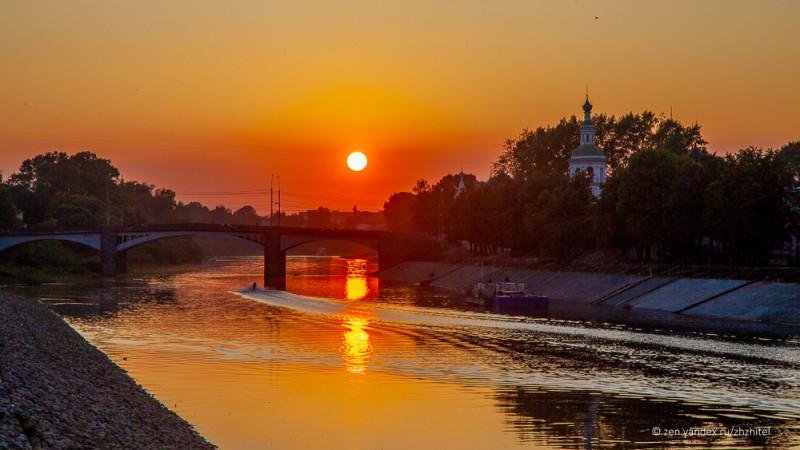 Закат в Вологде