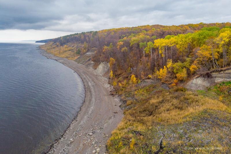 Геопарк Ундория расположился на берегу реки Волги в районе Куйбышевского водохранилища