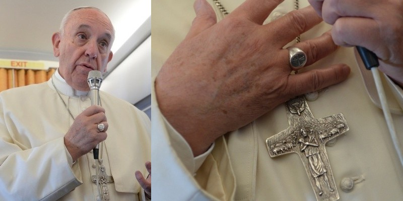 перстень папы римского фото днём торта