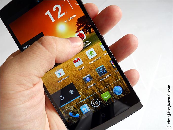 экран Highscreen Boost 2 SE с технологиями One Glass Solution и Full Lamination (фото zimaj)