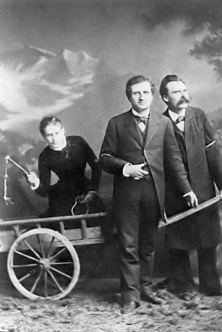 Ф.Ницше и русская белокурая женщина с плеткой.jpg