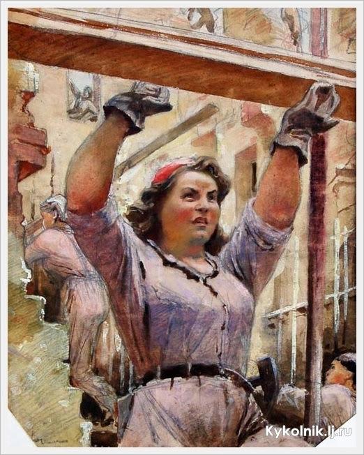 Могучая советская фемина!