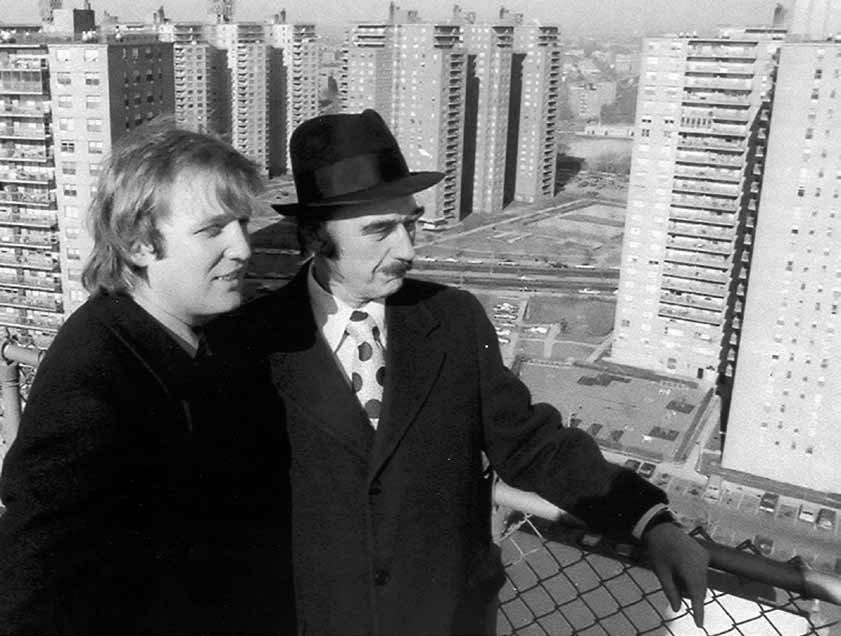 Donald Trump with his father Fred.