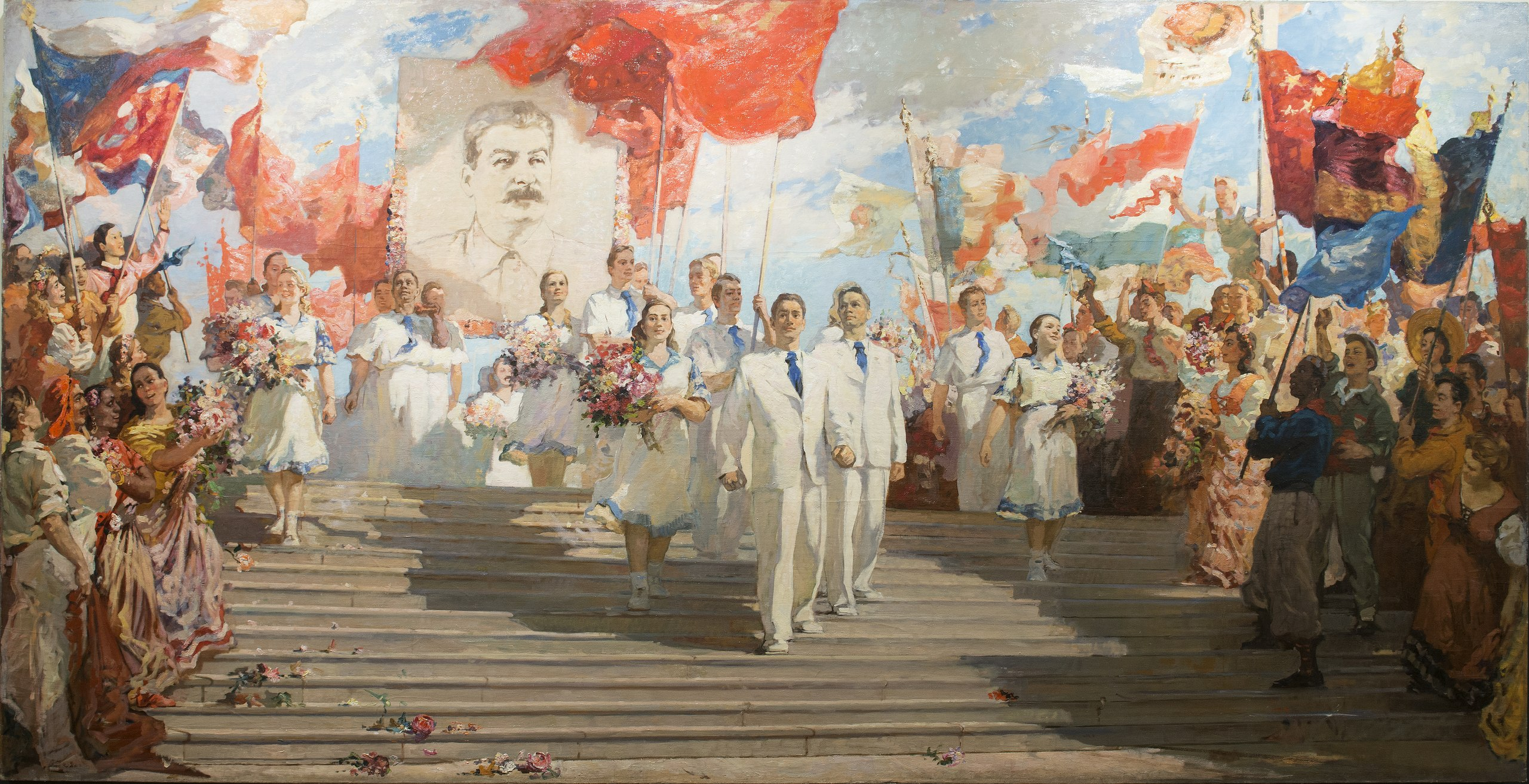 Алексей Константинович Соколов Знаменосцы мира 1951.jpg