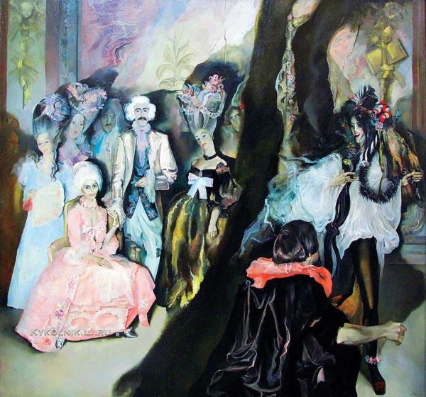 Табака Майя Нора Яновна (Латвия, 1939) «Свадьба в Рундале» 1974.jpg