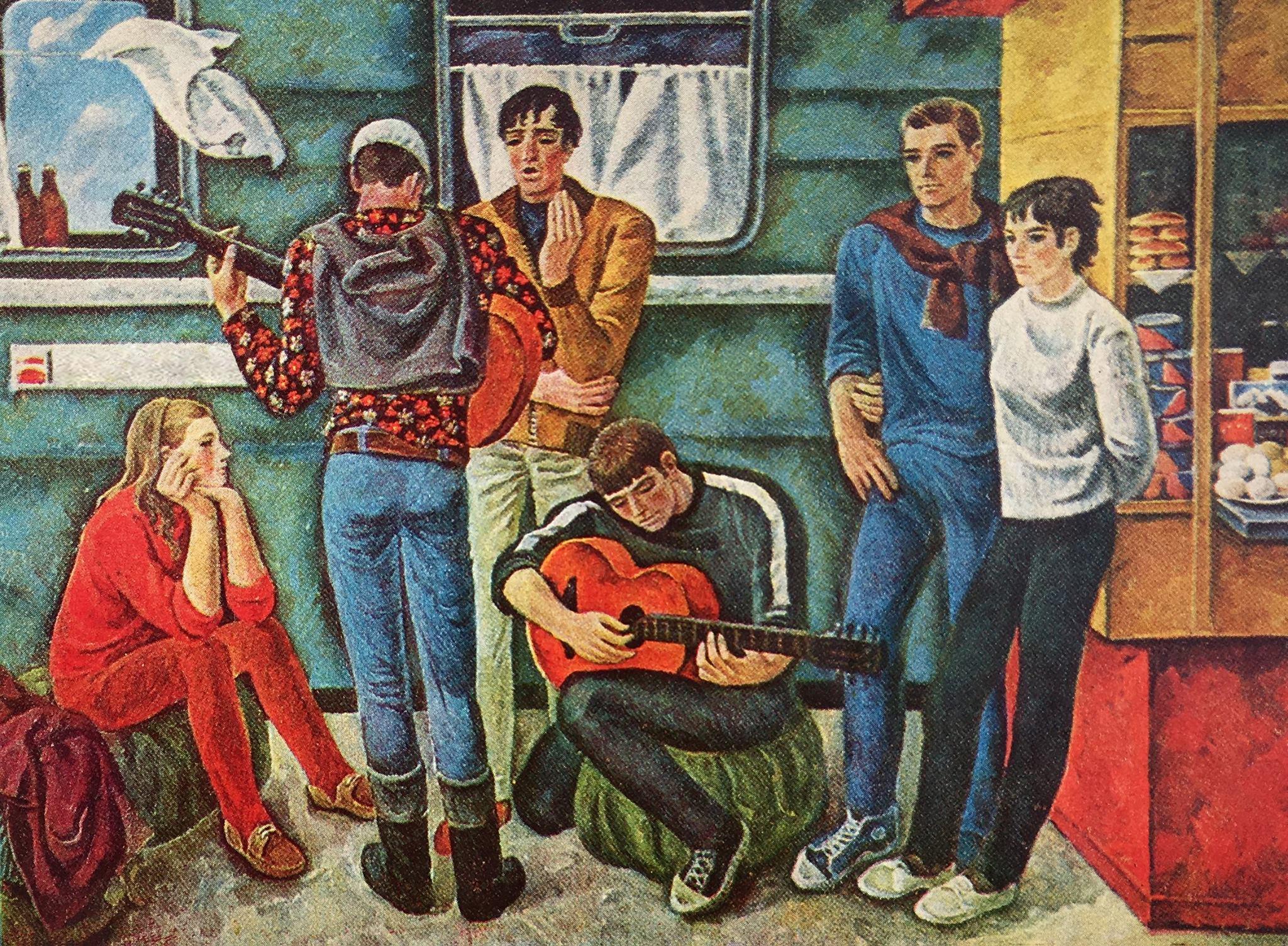 Туристы (худ. Г.Неледва), 1970-е.jpg
