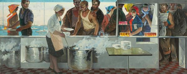 Данциг Май Вольфович (1930-2017) В рабочей столовой 1963.jpg
