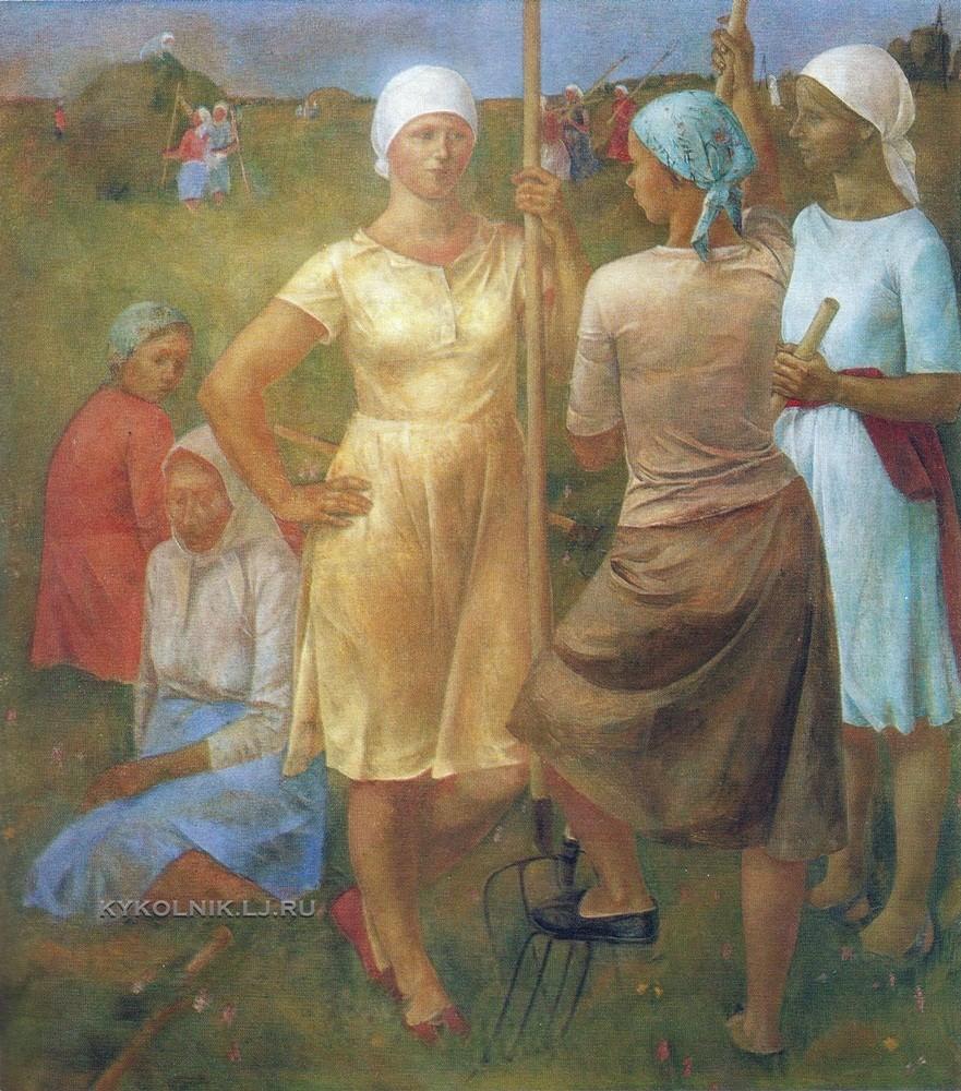 Кириллова Лариса Николаевна (1944) «Сенокос. Отдых» 1980.jpg