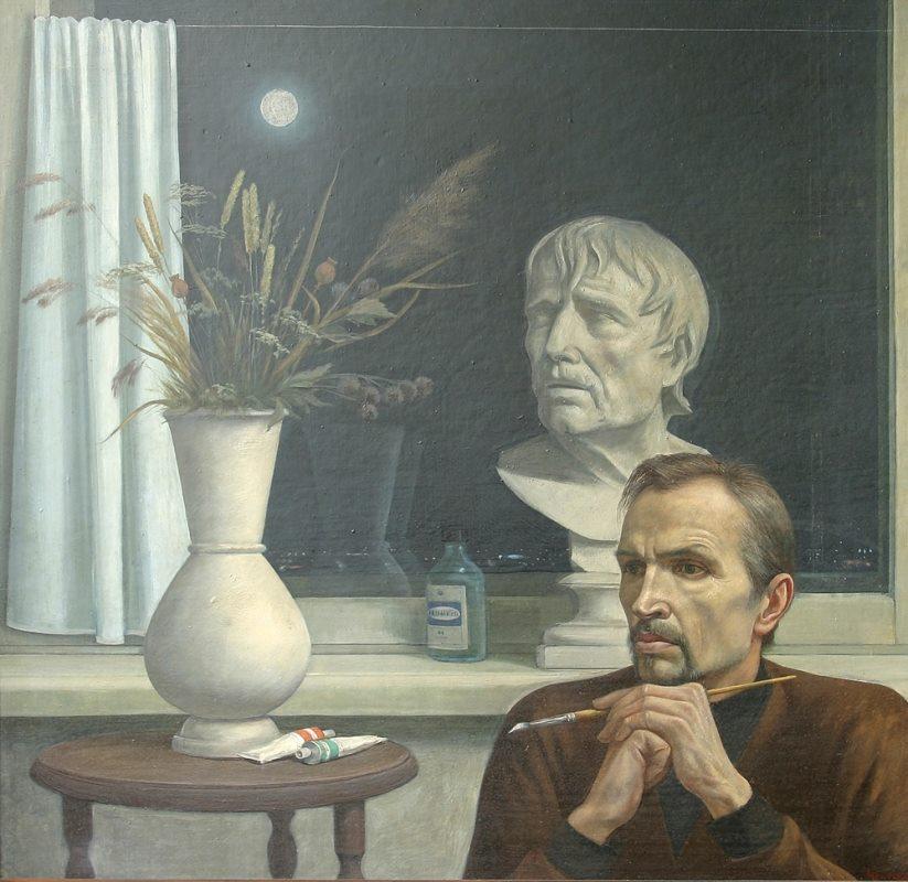 Чекмасов Валентин Сергеевич (1940) «Размышление. Автопортрет» 1988.jpg