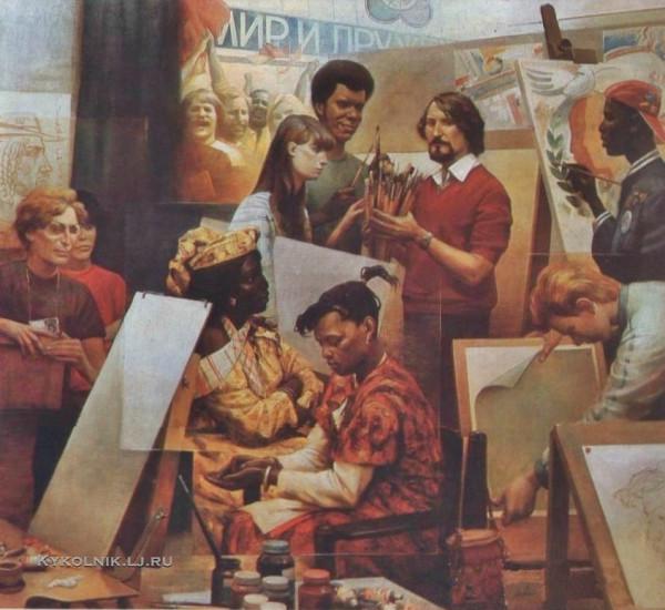 Кичигин Георгий Петрович (Россия, 1951) «Букет для мастерской» 1985.jpg