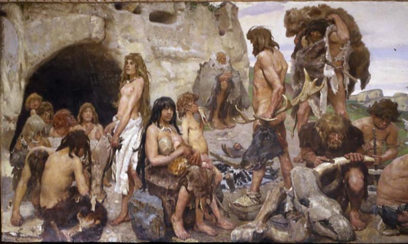 Древние люди каменного века картинки