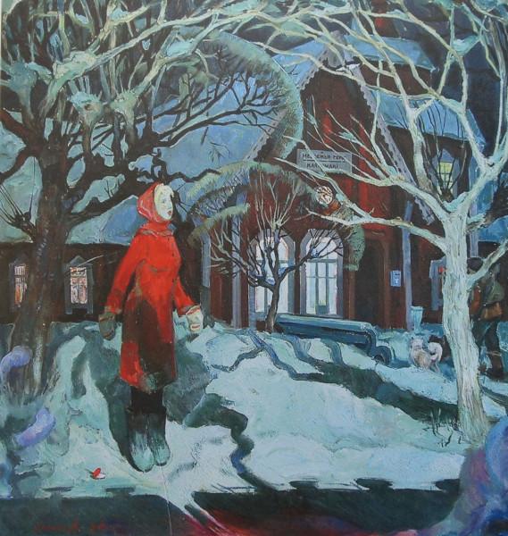 Бурин Лев Николаевич (1943) «Скорый. Станция Медвежья гора» 1980.jpg