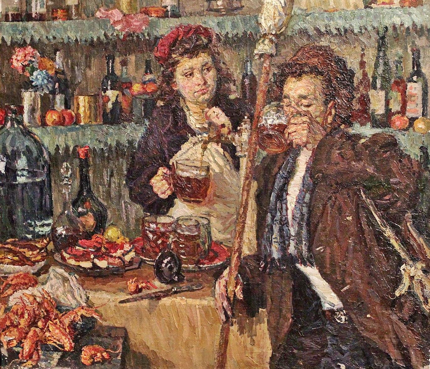 Дорохов Константин Гаврилович (Россия, 1906-1960)«После работы» 1947 г..jpg
