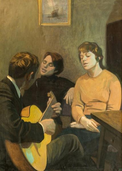 Фролова-Багреева Лидия Фёдоровна (1907-1997) «Песня» 1975.jpg
