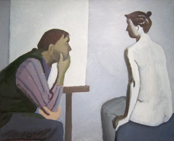Теряев Тимофей Фёдорович (1919-2001) «Художник и модель» 1988.jpg