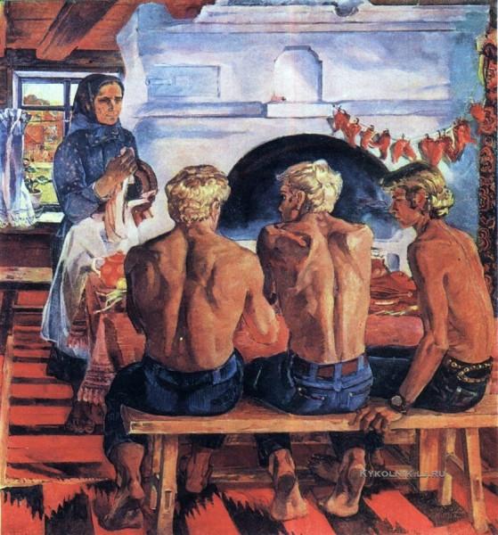 Межиров Юрий Александрович (1933-2012) «Ленинград. Сыновья» 1973.jpg