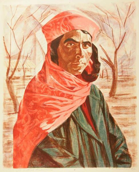Боровский Давид Борисович (1926-2004) «Туркменская колхозница» 1972.jpg