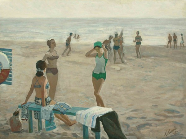 Бабенцов Виктор (1921-2012). «Молодежь на отдыхе», 1972. ....jpg