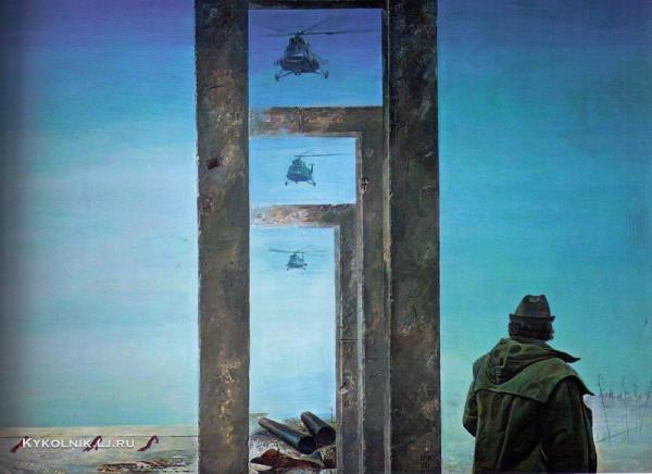 Омбыш-Кузнецов Михаил Сергеевич (1947) «Освоение» 1980.jpg