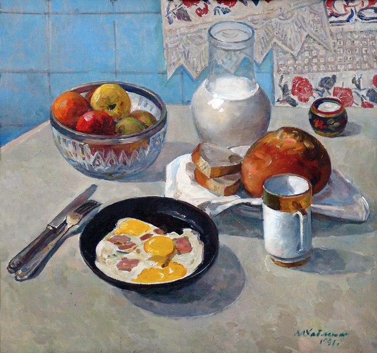 Советский завтрак: скромно и симпатично.