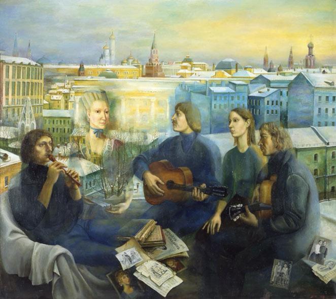 Татьяна Назаренко «Строительство дачи». 2011 год.jpg