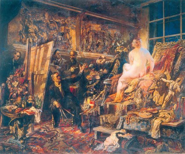 Василий Яковлев. Спор об искусстве. 1946