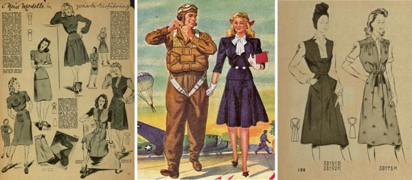 Типовые платья времён войны