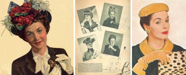 Шляпы военных лет и шляпка диоровского стиля