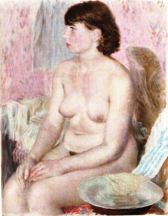 обнаж. натурщица, 1936.