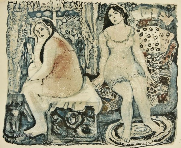 Ирина Ивановна Большакова (Россия, 1936-2010) «Две девушки» 1971 height=491
