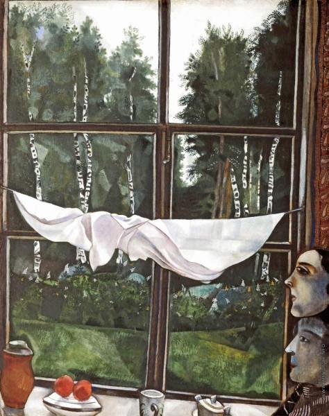 Шагал окно на даче 1915