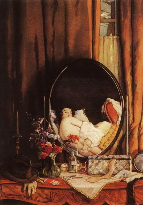 отражения в зеркале на туалетном столике. 1934