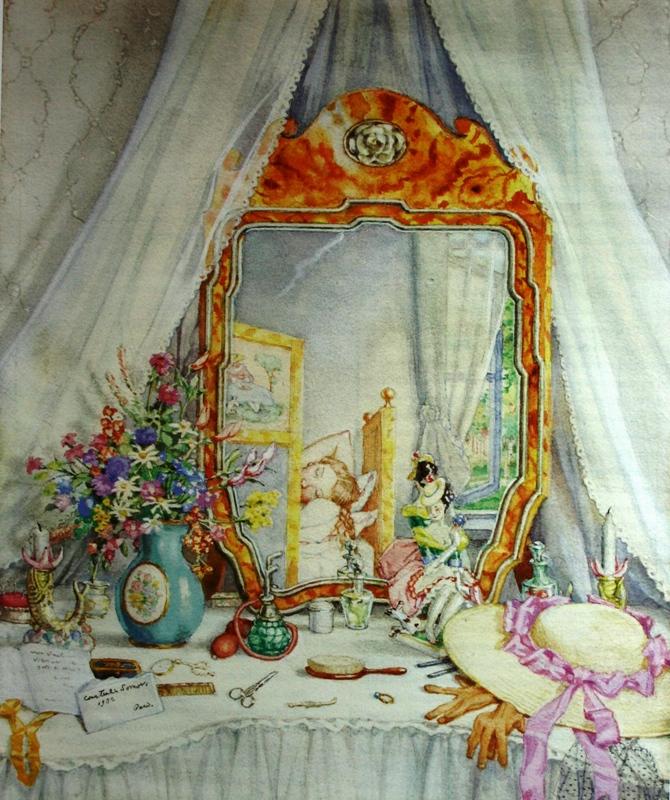 Сомов Константин Интерьер с туалетным столиком 1932 Бумага