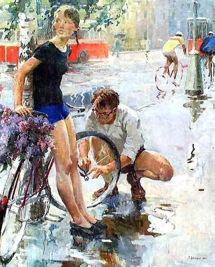 Велосипедная прогулка 1965