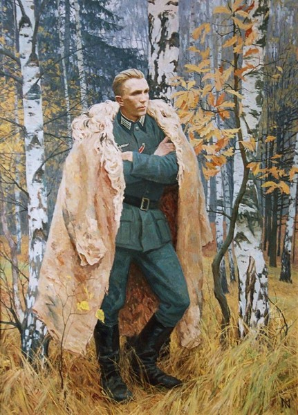 Портрет разведчика Н.И.Кузнецова Журов Максим Михайлович (2001)