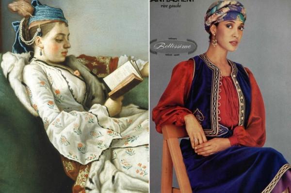 Лиотар Мария-Аделаида де Бурбон в турецком костюме  СЕН-ЛОРАН
