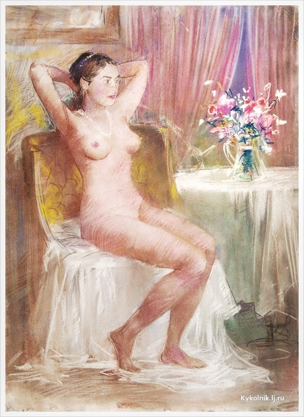 Терещенко Валентин Степанович (Россия, 1941) «Натурщица»
