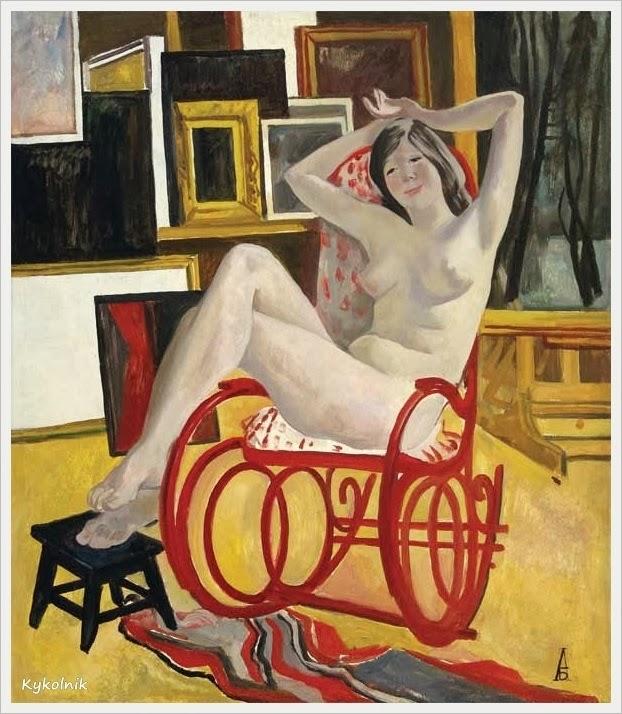 Барщ Александр Осипович (Россия, 1897-1971) «Обнаженная в мастерской А. Дейнеки»