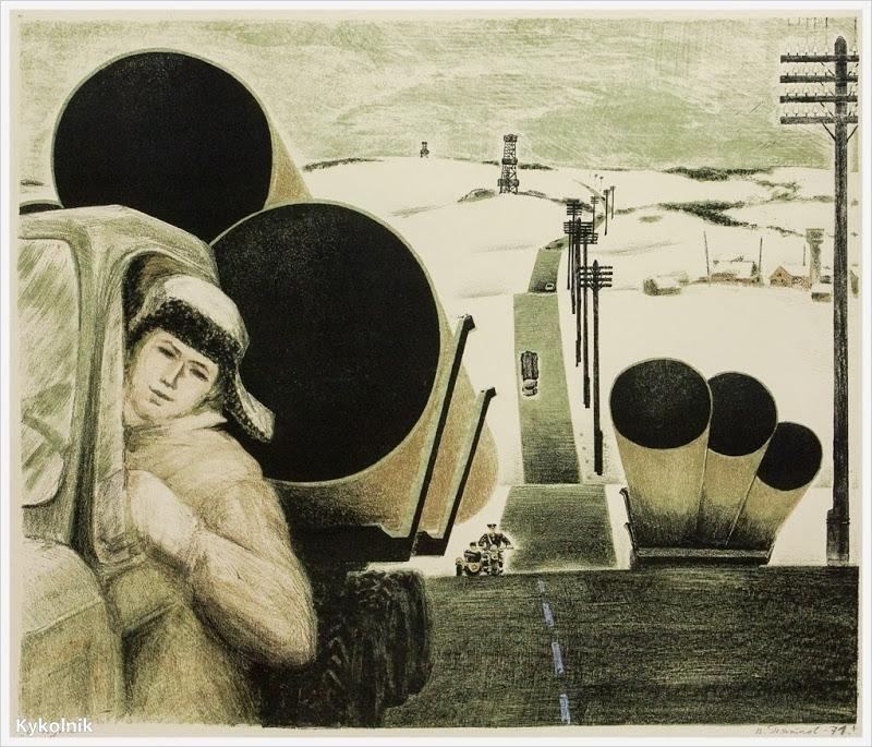 Пятков Виктор Иванович (Россия, 1939) «В пути» 1971