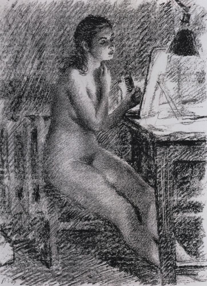 В.В. Лебедев Обнажённая у зеркала. 1949