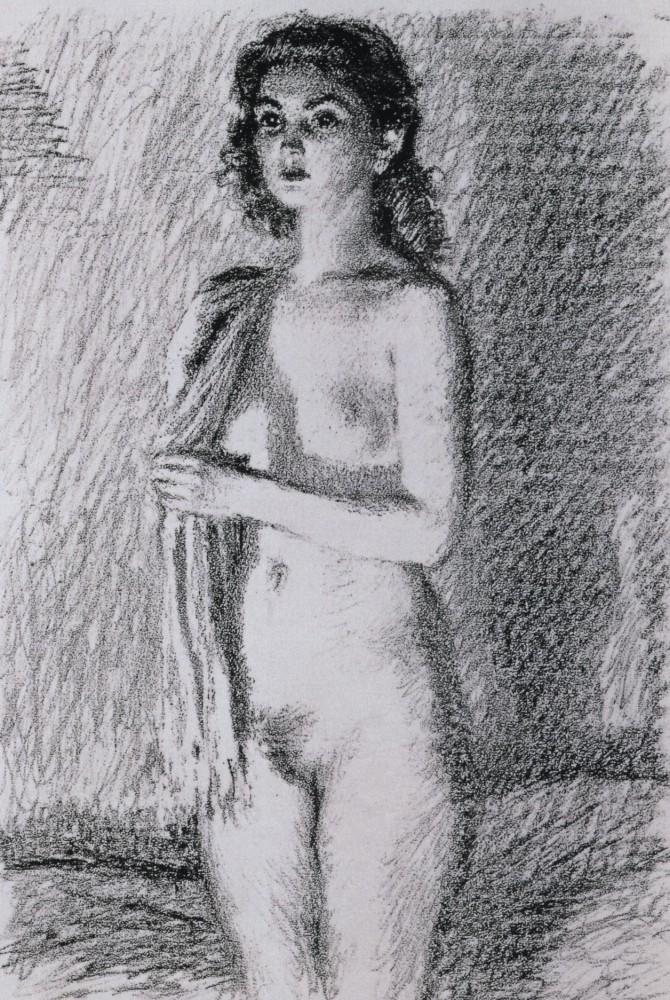 В.В. Лебедев Обнажённаяс полотенцем. 1949