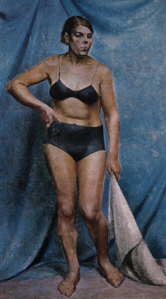 В.И.Малагис. Женщина с драпировкой. Ок.1940.