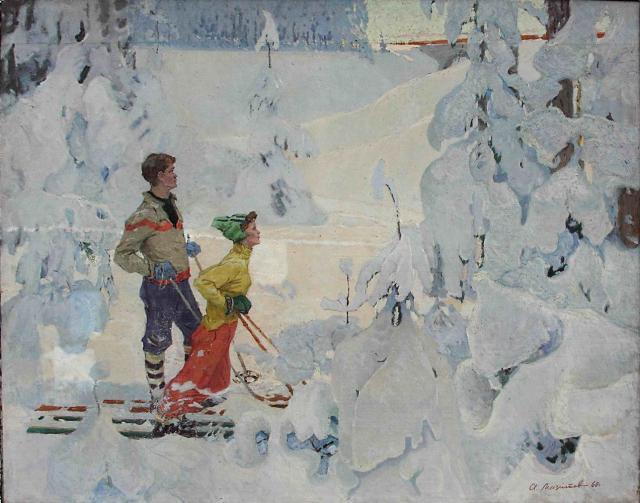 Мазитов А.Н. Зимняя сказка. 1960