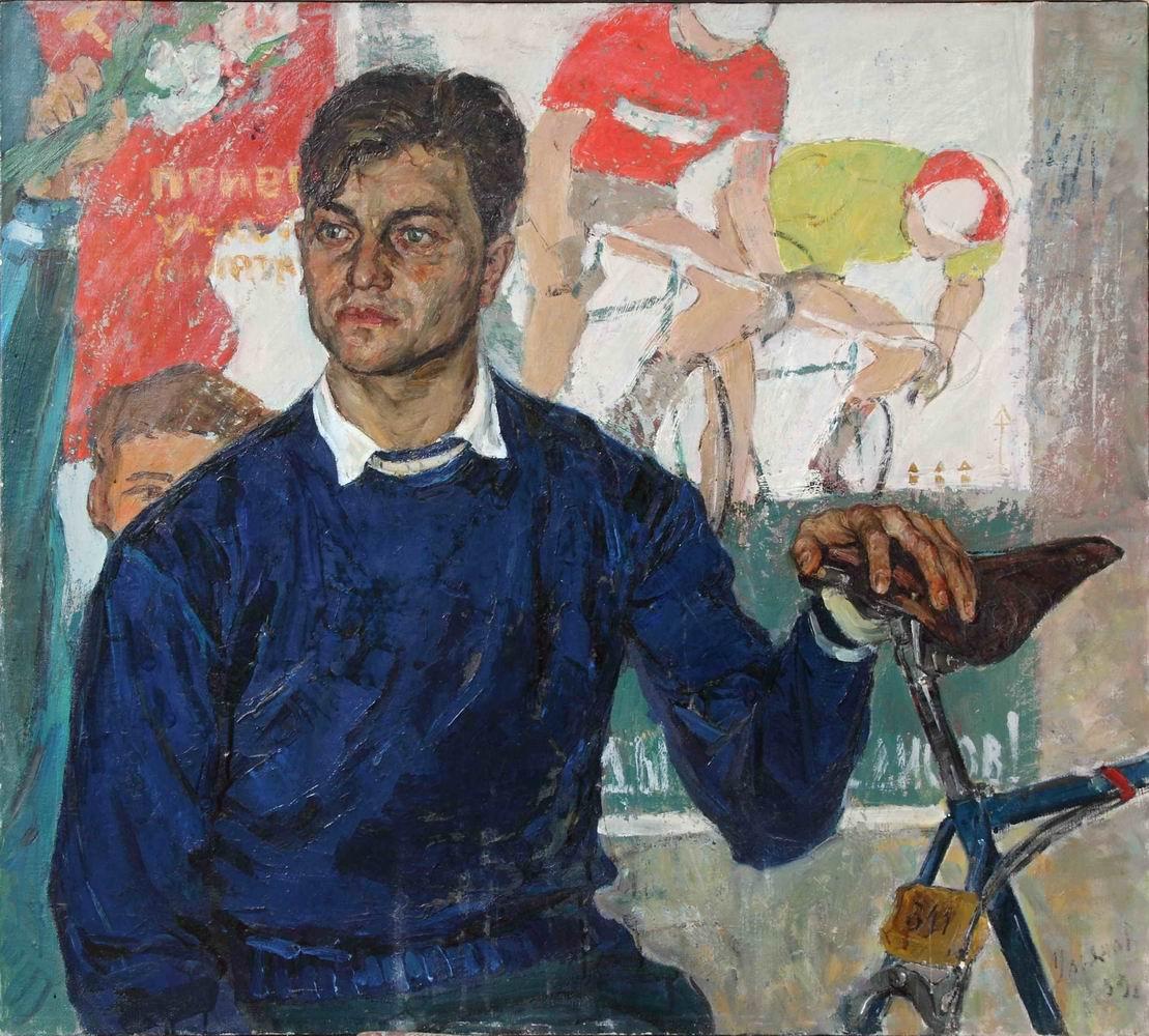 Ульянов В.А. Велосипедист. Мастер спорта В.В. Голованов. 1959