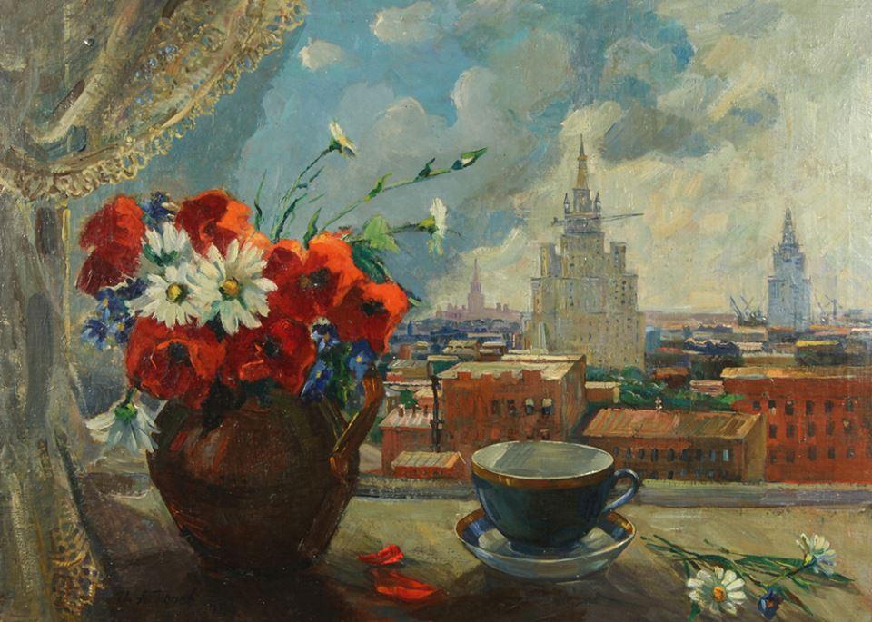 Игорь Попов. Вид на Воробьевы горы, Москва