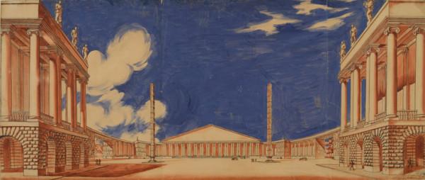 И.А. Фомин. Здание Академии наук. Конкурсный проект 1934-1935.