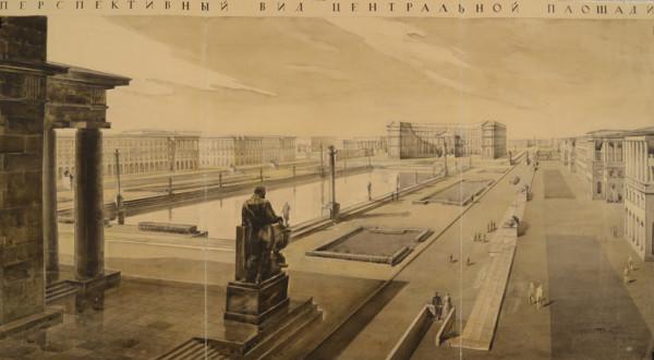 А.К. Барутчев, Б.Р. Рубаненко. Здание Академии наук. Конкурсный проект 1934-1935